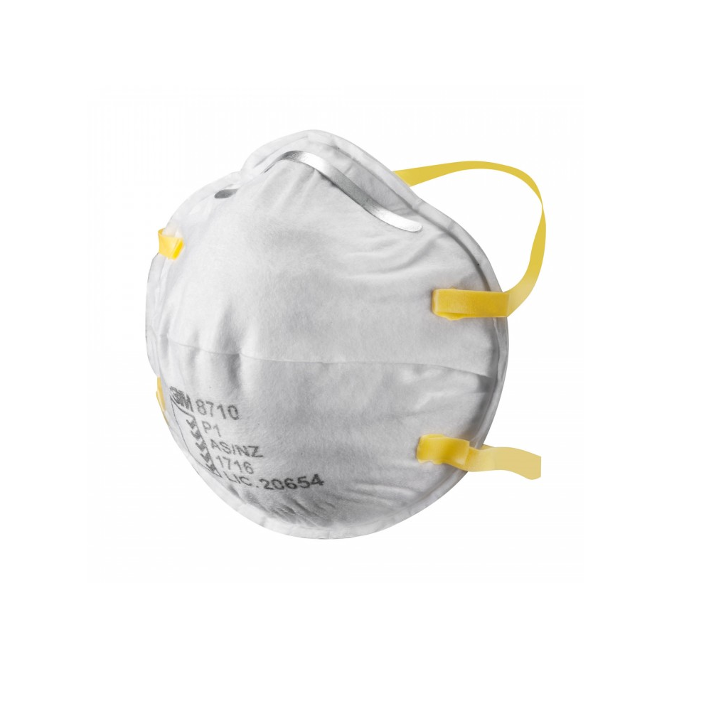Respirator Mask 3m Ffp1 Disposable 8710 Unvalved Cup-shaped