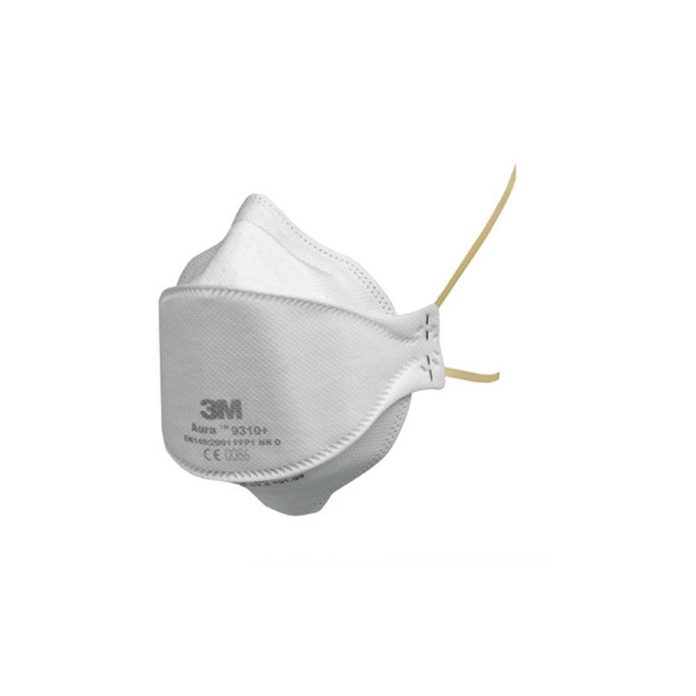 3m Respirator Mask Unvalved Disposable Aura 9310 Ffp1 Flat-fold