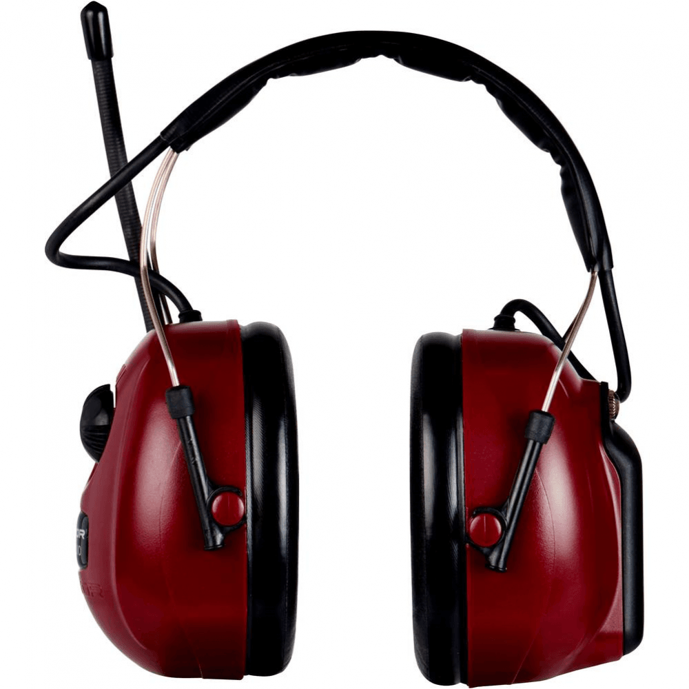 44d2d6a69b2 Peltor Alert Radio SNR 30 dB red ear muff defender with headband and 3.5mm  audio