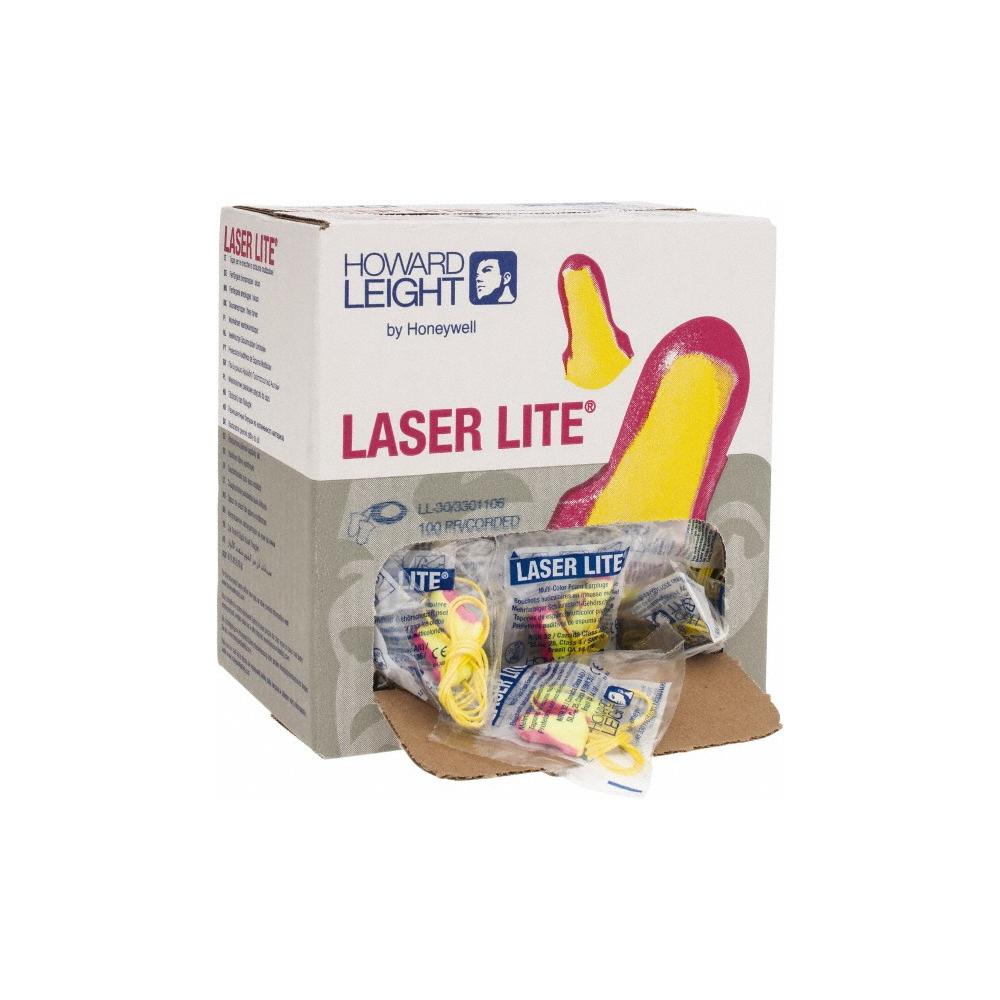 Pink/&Yellow Howard Leight 3301105 Laser Lite Ear Plugs 20 Pairs