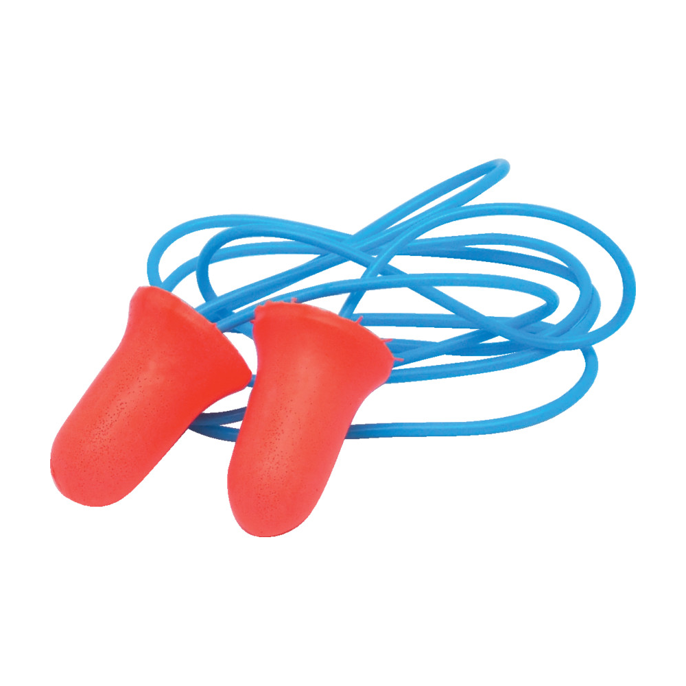 One Size Pack of 100 Honeywell MAX-30 Howard Leight Max-30 Max Disposable Foam Corded Earplugs Red with Blue Chord 100 Pairs